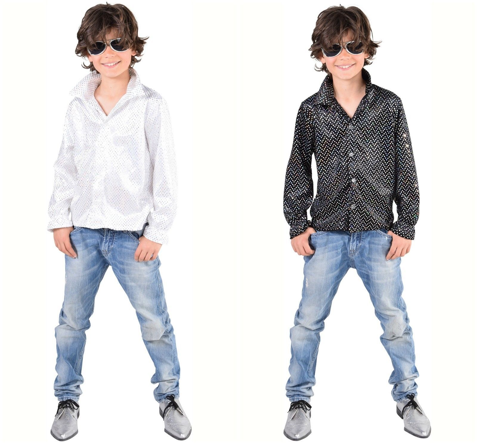 KIds 70's Sequinned Disco Shirts - Dance - Boys