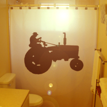 SHOWER CURTAIN Tractor Farming Farm Agriculture Vehicle - $75.00