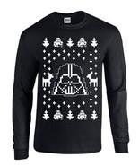 Darth Vader Ugly Christmas Sweater Star Wars LONG SLEEVE Men's Tee Shirt B119 - $16.88 CAD - $19.48 CAD