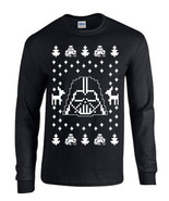 Darth Vader Ugly Christmas Sweater Star Wars LONG SLEEVE Men's Tee Shirt B119 - $12.86 - $14.84