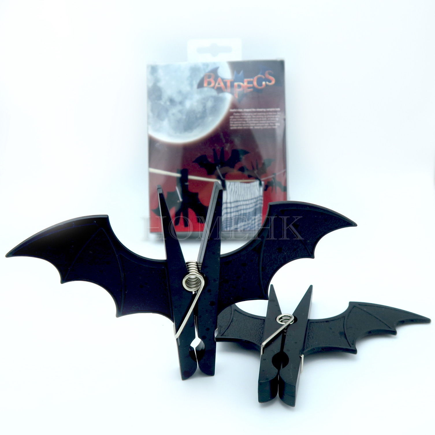 Primary image for Bat Peg 2pcs Pack Vampire Wash Clothes line Laundry Hanger Bookmark Paper Clip