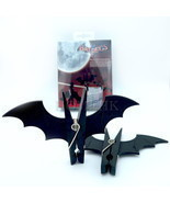Bat Peg 2pcs Pack Vampire Wash Clothes line Laundry Hanger Bookmark Pape... - $6.99