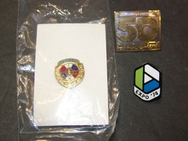 Assorted Vintage Hat Pins - Retired I A of M, Expo '74, PDX 50 Years - $17.99