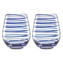 Kate Spade New York  Charlotte Street Stemless Wine, Set of 2, Blue - $39.60
