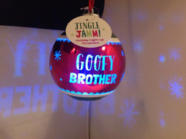 """Goofy Brother"" Christmas Tree Ornament Ball Sphere Lights Up Red Green & Blue"