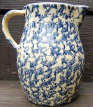 Robinson Ransbottom Pottery Creamer Pitcher Blue Spongeware RRPCO Vintag... - $81.99