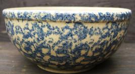 Robinson Ransbottom Pottery Cereal  Soup Bowl Blue Spongeware RRPCO Vint... - $40.99