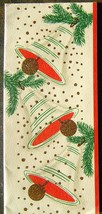 Christmas Bells Gold Glitter Red Green Christmas New Year Card 1526 Vint... - $24.59