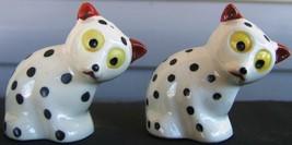 Calico Animals Spotted Dog Ceramic Salt Pepper Shaker Set Japan Vintage ... - $73.79