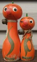 Oranges Anthropomorphic Wood Salt Pepper Shakers Magnetic Florida Souven... - $73.79