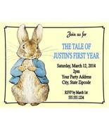 Peter Rabbit Beatrix Potter Birthday Party Invitations Custom Personalized - $1.00