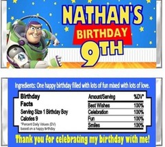 Toy Story Buzz Birthday Party Candy Wrappers Favors Personalized Custom - $1.00