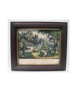 Original Antique Currier & Ives: The Old Oaken ... - $117.60