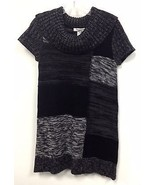 NEW NWT Macy's Style Co Black & Gray Square Cowl Neck Color Block Sweate... - $20.00