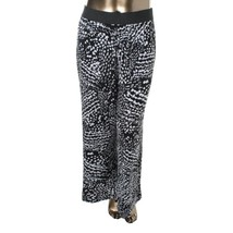 Macys NEW NWT Alfani Black White Confetti Casual Jersey Print Pants Plus... - $17.64