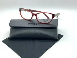 Authentic Guess GU2380 Bur Burgundy 53-17-140MM Eyeglasses /CASE+ Cloth - $31.81