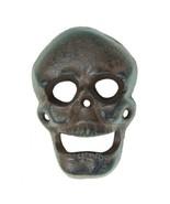 New Cast Iron Figural Skeleton Skull Bottle Cap... - $12.69