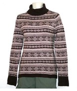 NEW NWT Macy's Bandolino Purple Fair Isle Long Sleeve Turtleneck Tunic S... - $23.52