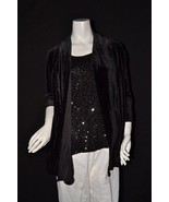 NEW NWT Macy's Elementz Black Velvet Layered Se... - $23.52