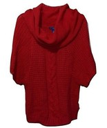 NEW NWT Macy's Bandolino Red Bat Sleeve Cowl Neck Cocoon Tunic Sweater S... - $19.60
