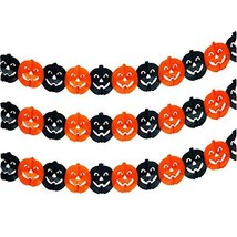 PANDA SUPERSTORE Set of 10 Black&Orange[Pumpkin] Halloween Banners Bar/P... - $15.59