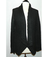 NEW NWT Macy's Style & Co Black Mohair Like Acrylic Open Cardigan Sweate... - $19.60