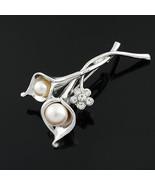 Wholesale Lot 8 Art Nouveau Silver Tone Calla L... - $16.04
