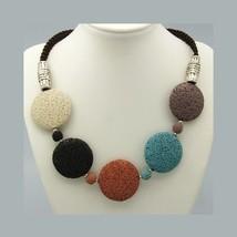 Wholesale Lot 4 1960's Mod Bohemian Necklace wi... - $18.20