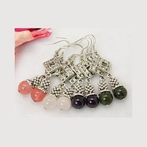 Wholesale Lot 12 Mix Tibetan Silver Gemstone Be... - $9.57