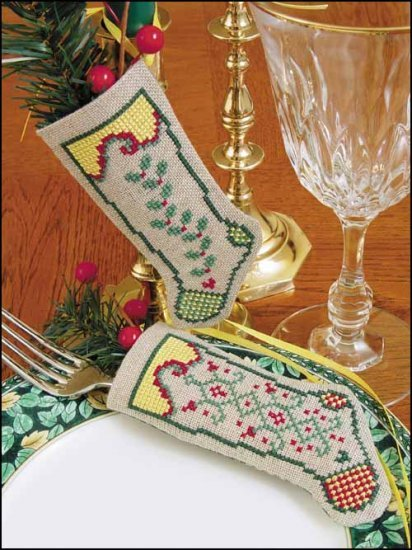 "Primary image for Hope Linen Stocking Ornament kit christmas 4.75"" tall cashel linen"