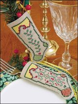 "Hope Linen Stocking Ornament kit christmas 4.75"" tall cashel linen - $6.30"