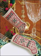 "Believe Linen Stocking Ornament kit christmas 4.75"" tall cashel linen - $6.30"