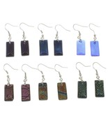 Wholesale Lot 12 Pairs Mixed Iridescent Dichroi... - $21.75