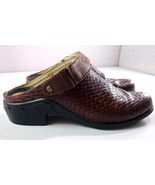Ariat Womens Brown Woven Leather Slingback Mules Size 9 B - $59.95
