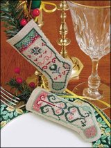 "Faith Linen Stocking Ornament kit christmas 4.75"" tall cashel linen - $6.30"