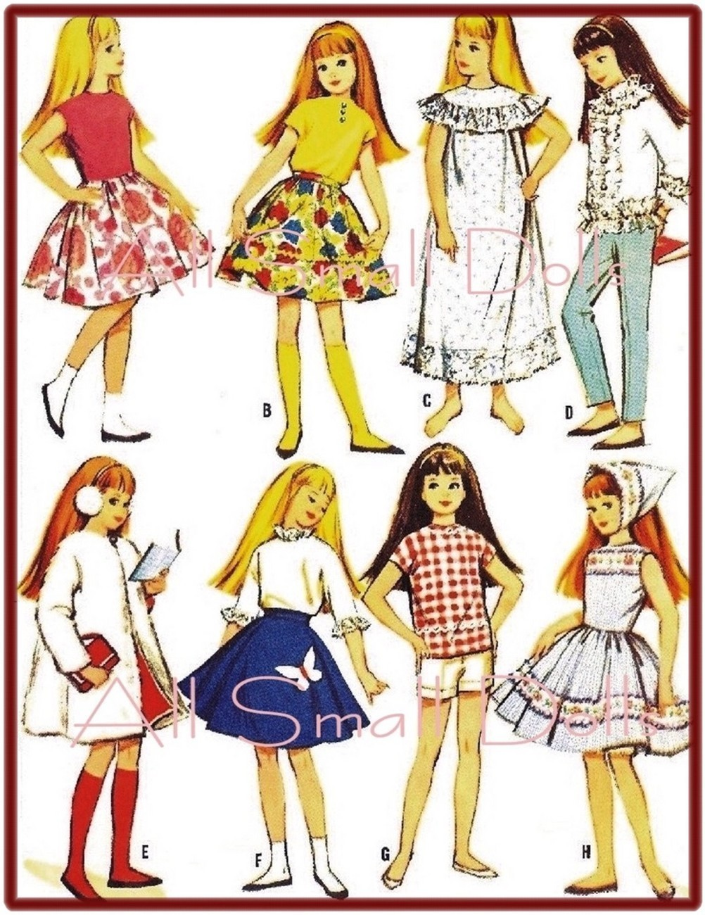 "Primary image for Vintage Doll Clothing Pattern for 9 1/2"" Skipper No. 4"