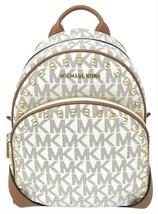 NWT Michael Kors ABBEY medium Backpack Frame out studded VANILLA travel ... - $147.51