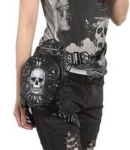 Steel Master Punk Skull Waist Bags Leg Holster Retro Bags Goth Shoulder... - $113.12