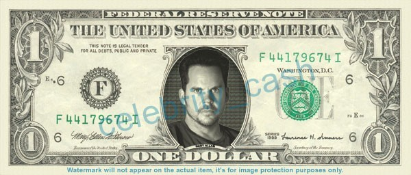 GARY ALLAN singer on REAL Dollar Bill Cash Money Bank Note Currency Dinero