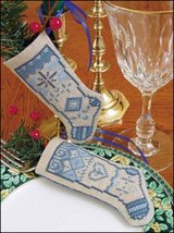 "Love Linen Stocking Ornament kit christmas 4.75"" tall cashel linen - $6.30"