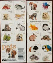 PETS- 20 (USPS) Stamp Sheet FOREVER STAMPS - $14.95