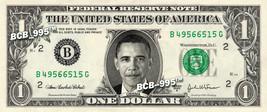 BARACK OBAMA on REAL Dollar Bill Cash Money Memorabilia Collectible Cele... - $5.55