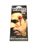 Halloween Bloody Gunshot and Stab Wounds Prank Temporary Tattoos Costume... - €4,36 EUR+