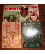 Lot 16 Craft Books Crochet Cross Stitch Plastic Canvas Christmas Other   - $9.99