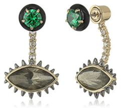 Alexis Bittar Enamel Framed Stud with Earring J... - $220.00