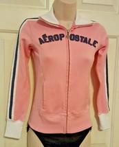 Aeropostale Authentic Brand Varsity Athletics Jacket Pink & White Zip-up... - $19.78