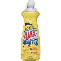 Ajax Super Degreaser Dish Liquid, Lemon, 12.6 Fluid Ounce (Pack of 4) - $14.71