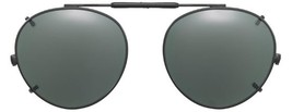 Visionaries Polarized Clip on Sunglasses - Round - Gun Frame - 50 x 45 Eye - $37.40