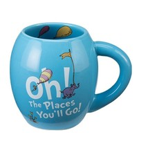 Dr. Seuss Oh the Places You'll Go 18 oz. Oval Ceramic Mug Blue - $17.95