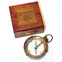 Nautical Map Reader w/ Compass in Handmade Wooden Captain Box - $29.69